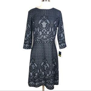 New GABBY SKYE dress 14 black bonded lace d2207